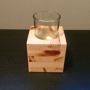 Solid Wood Candle Holder New